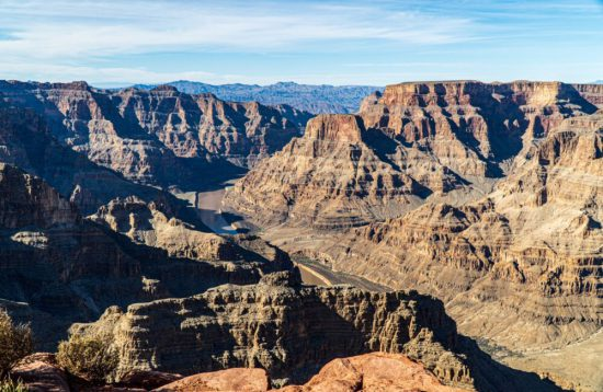 Experience this grand view from the Skywalk at Grand Canyon West. Visit the Skywalk with Christianson Tours!